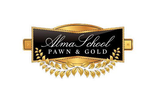 Alma School Pawn and Gold Logo